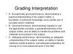 grading interpretation