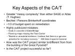 key aspects of the ca t