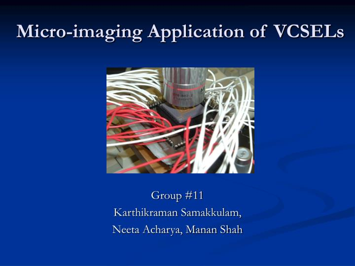 micro imaging application of vcsels n.