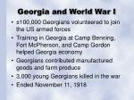 georgia and world war i