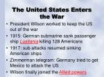 the united states enters the war