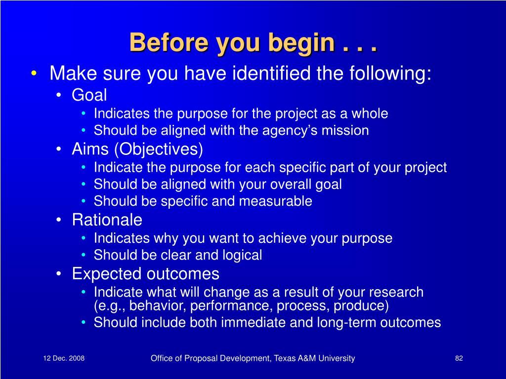 Before you begin . . .