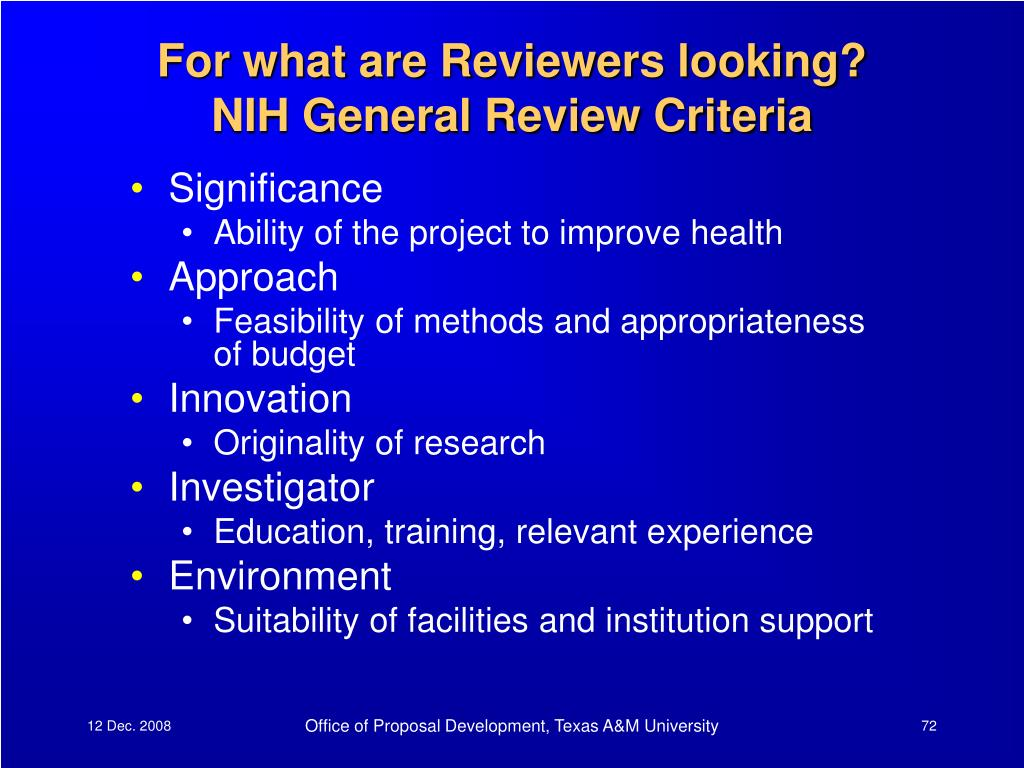 For what are Reviewers looking?