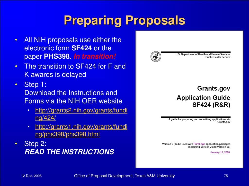 Preparing Proposals