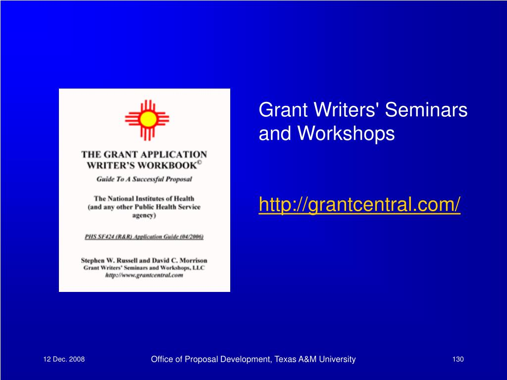 Grant Writers' Seminars and Workshops