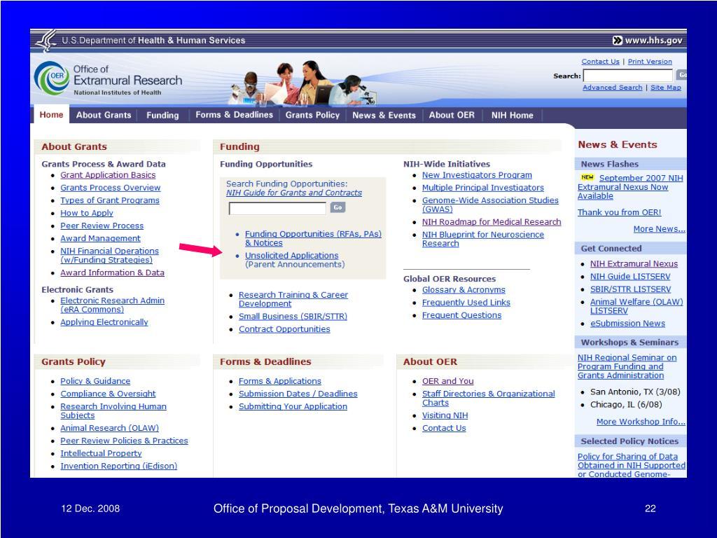 Office of Proposal Development, Texas A&M University
