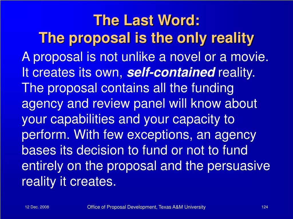 The Last Word: