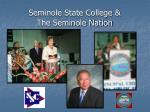 seminole state college the seminole nation