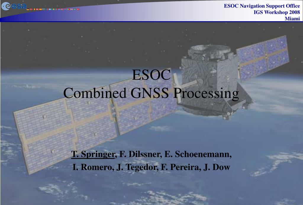 esoc combined gnss processing l.