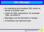 qsl manager