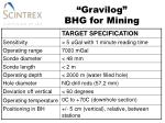 gravilog bhg for mining