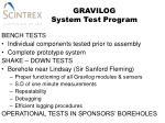 gravilog system test program