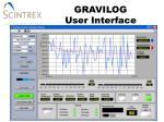 gravilog user interface