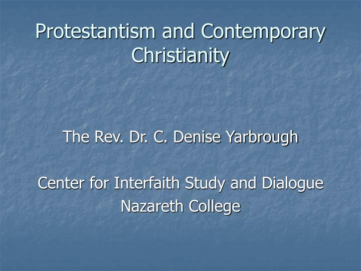 protestantism and contemporary christianity n.