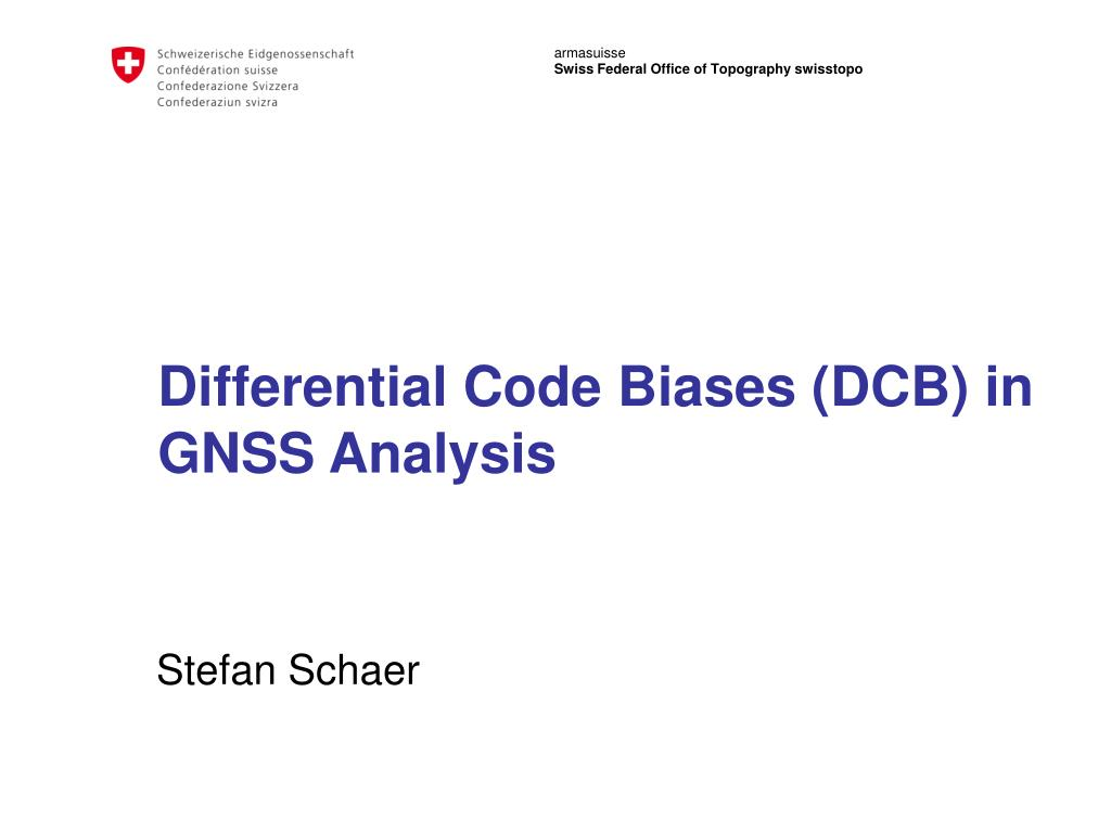 differential code biases dcb in gnss analysis