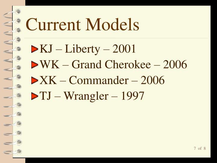 Current Models
