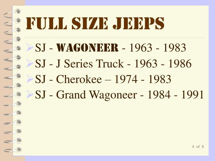 Full Size Jeeps