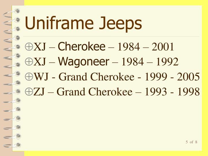 Uniframe Jeeps