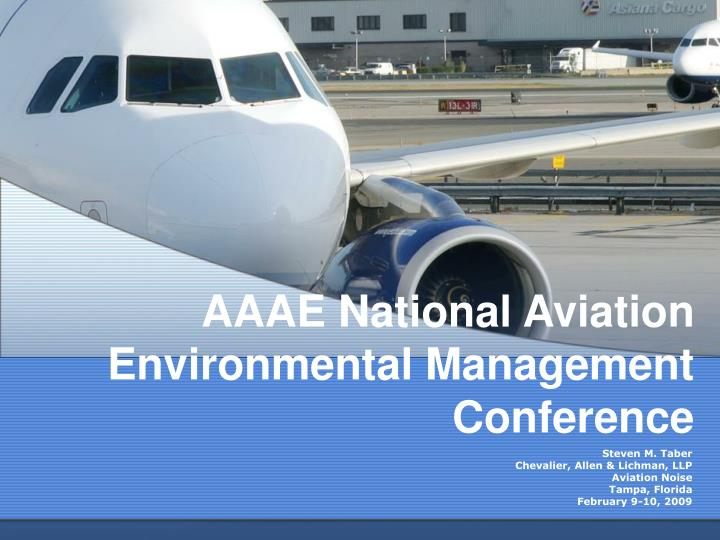 aaae national aviation environmental management conference n.