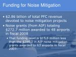funding for noise mitigation