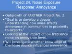 project 24 noise exposure response annoyance