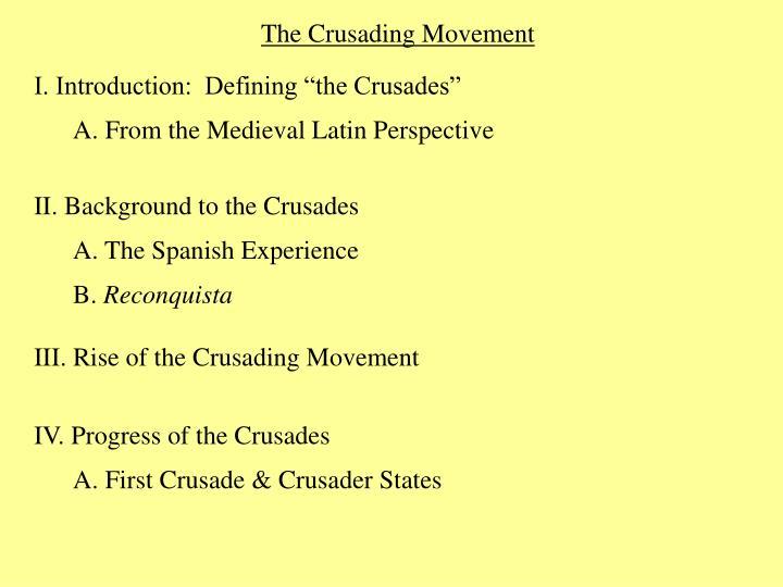 The Crusading Movement