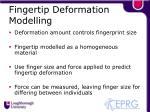 fingertip deformation modelling