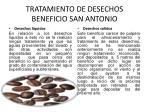 tratamiento de desechos beneficio san antonio
