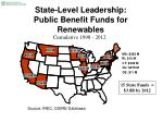 state level leadership public benefit funds for renewables