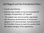 self regard and the presidential ethos