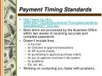 payment timing standards