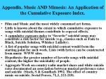 appendix music and mimesis an application of the cumulative exposure index