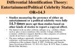 differential identification theory entertainment political celebrity status or 14 3