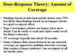 dose response theory amount of coverage