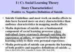 i c social learning theory story characteristics positive vs negative definition of suicide
