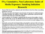 iva cumulative non laboratory index of media exposure smoking initiation research