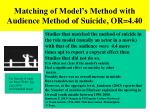 matching of model s method with audience method of suicide or 4 40