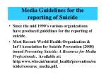 media guidelines for the reporting of suicide