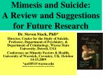 mimesis and suicide a review and suggestions for future research
