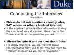 conducting the interview helpful hints22