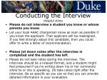 conducting the interview helpful hints24
