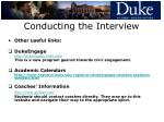conducting the interview20