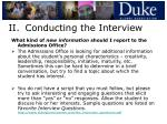 ii conducting the interview14