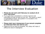the interview evaluation31