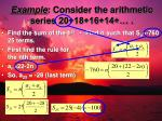 example consider the arithmetic series 20 18 16 14