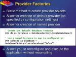 provider factories1