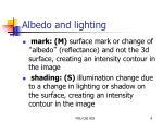 albedo and lighting