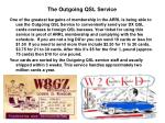 the outgoing qsl service