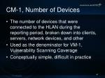 cm 1 number of devices