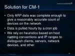 solution for cm 1